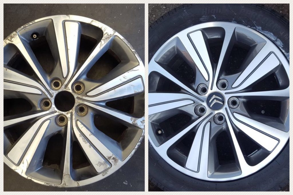 refurbish alloy wheels - before and after photos