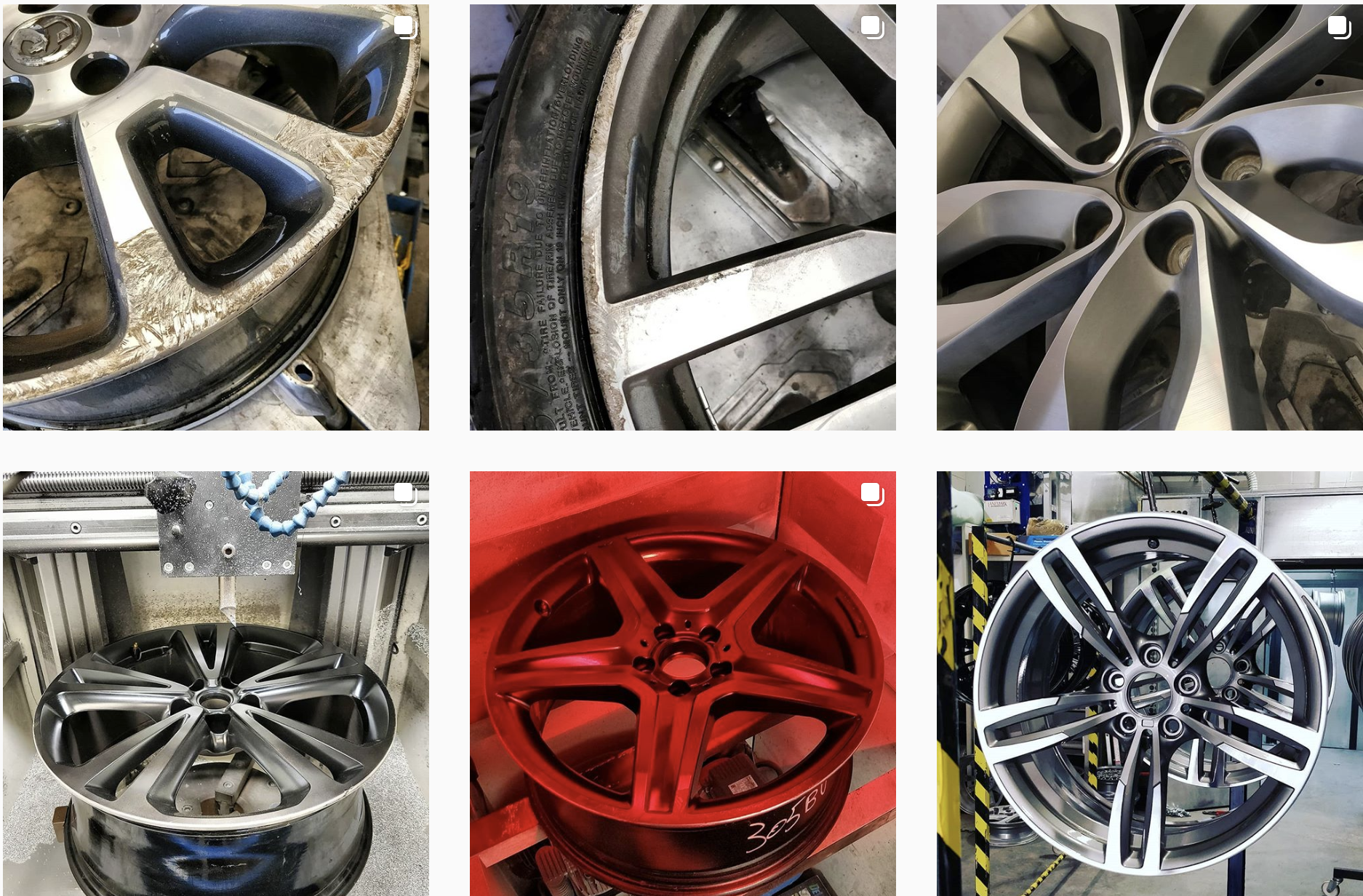 DA Techs types of painted wheels and powder coated wheels