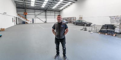 Andy stood in the new facility in 2021