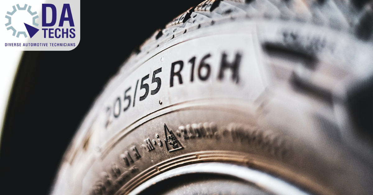 Tyre specification on tyre sidewall